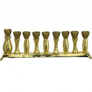 Gold Aluminum Sparkly Hanukkah Menorah