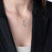 Marina Jewelry Sterling Silver Classic Shiny Star Of David Necklace