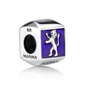Marina Jewelry Sterling Silver And Enamel Lion Of Judah Charm Bead