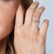 Star of David Jewish Ring Gold Plated Silver Rope Signet Ring by Marina Jewelry