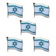 5 Israel Flag Lapel Pin