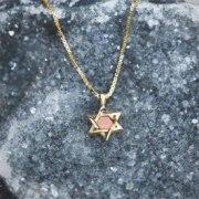 Gold Plated Whole Bible Nano Jewelry Star of David Pendant