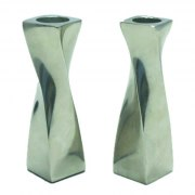 Twisted Design Aluminum Candlesticks Medium