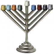 Colorful Aluminium Chabad Hanukkah Menorah