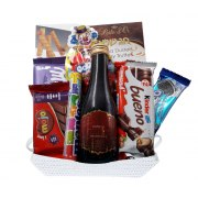 Purim Family Basket with Wine