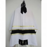 Black and Silver Tallit Prayer Shawl by Galilee Silks