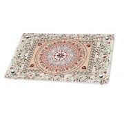Dorit Judaica Pomegranate Mandala Shabbat Verses Glass Challah Board