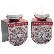 Dorit Judaica Pomegranate Mandala Candlesticks