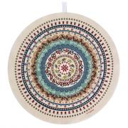 Dorit Judaica Round Pomegranate Pattern Mandala Hand Towel