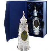 Silver Torah Shaped Bottle with Anointing Oil (27 ml)