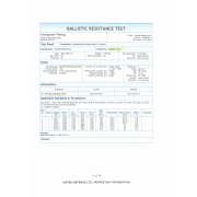 Ballistic Resistantance Test