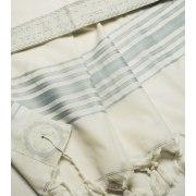 Talitania Hermonit Wool Tallit with Light Blue Stripes