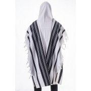 Lightweight Wool Chabad Tallit with Silk Corners
