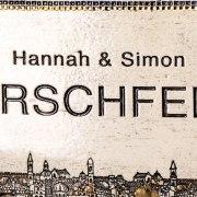 Personalized Handmade Ceramic English Door Sign Jerusalem Design