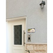 Personalized Handmade Ceramic English Door Sign Tree of Life Design