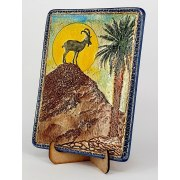 Ceramic Plaque with Ein Gedi Mountain Goat by Art in Clay