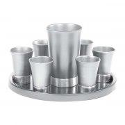 Yair Emanuel Aluminum Kiddush Cup Set