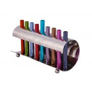 Emanuel Judaica Wave Menorah Design with Colorful Cylinders