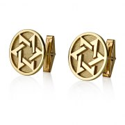 14K Gold Star of David Cufflinks