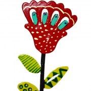 Yair Emanuel Free Standing Red Flower