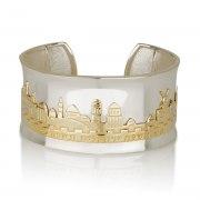 Gold and Silver Jerusalem Cuff Bracelet