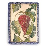 Ceramic Plaque with Seven Species Vine by Art in Clay