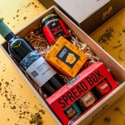 Taste of Israel Gift Box with Wine Honey and Delicious Spreads
