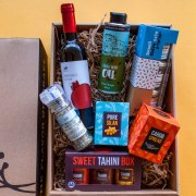 Taste of Israel Box with Wine Unique Israeli Passover Delights