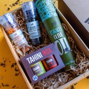 Taste of Israel Gift Box with Olive Oil Spreads and Spices