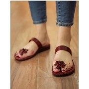 Daisy Toe PopUp, Single Strap Slipon Handmade Leather Biblical Sandals - Rebecca