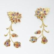 Adina Plastelina Frida Floral Gold Earrings