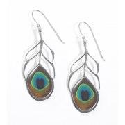 Adina Plastelina Peacock Feather Earrings