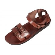 Adjustable Double Band Leather Biblical Sandals - Abraham