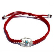 Hamsa Bracelet for Luck and Protection - Red