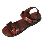Adjustable Single Strap Leather Biblical Sandals  -  Solomon