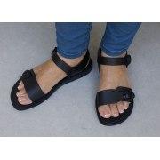 Adjustable Single Strap Handmade Leather Biblical Sandals  -  Solomon