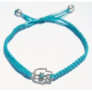 Turquoise Jewelry, Kabbalah bracelet, Hamsa pendant