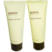 AHAVA Value Set Mineral Hand Cream and Foot Cream, Dead Sea Cosmetics