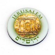Ancient Coin- Jerusalem Fridge Magnet, Israel Souvenirs