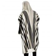 Talitania Prima AA Wool Tallit with Black Stripes