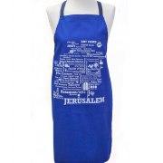 Jewish Apron Jerusalem Word Map