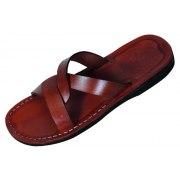 Basic Weave Design Slip-on Leather Biblical Sandals - Samson