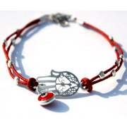 Beaded Hamsa Bracelet Against the Evil Eye
