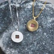 14K Gold Whole Bible Nano Jewelry Circle Pendant