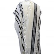 Black and Gold Stripes Prima AA Wool , Tallit Prayer Shawl
