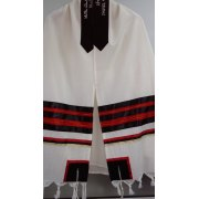 Black and Red Tallit Prayer Shawl by Galilee Silks