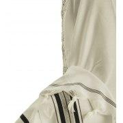 Black and Silver Stripes Acrylic Tallit Prayer Shawl