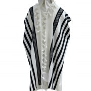 Black Stripes Prima AA Wool , Tallit Prayer Shawl