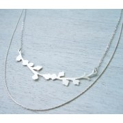Blooming Branch Necklace in Silver - Shlomit Ofir Jewelry