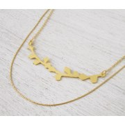 Blooming Branch Necklace in Goldr - Shlomit Ofir Jewelry